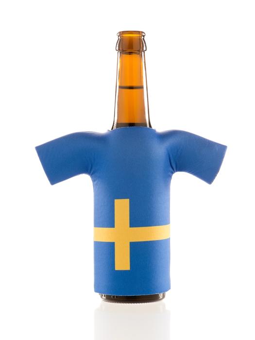 flaschentrikot sweden neopren flaschenkuehler schweden fanartikel 2018